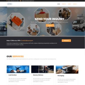 Transport website Portfolio